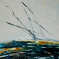 ©Jane Hodgson Meeting Point, 80 x 80 cm, plus frame. Oil on canvas