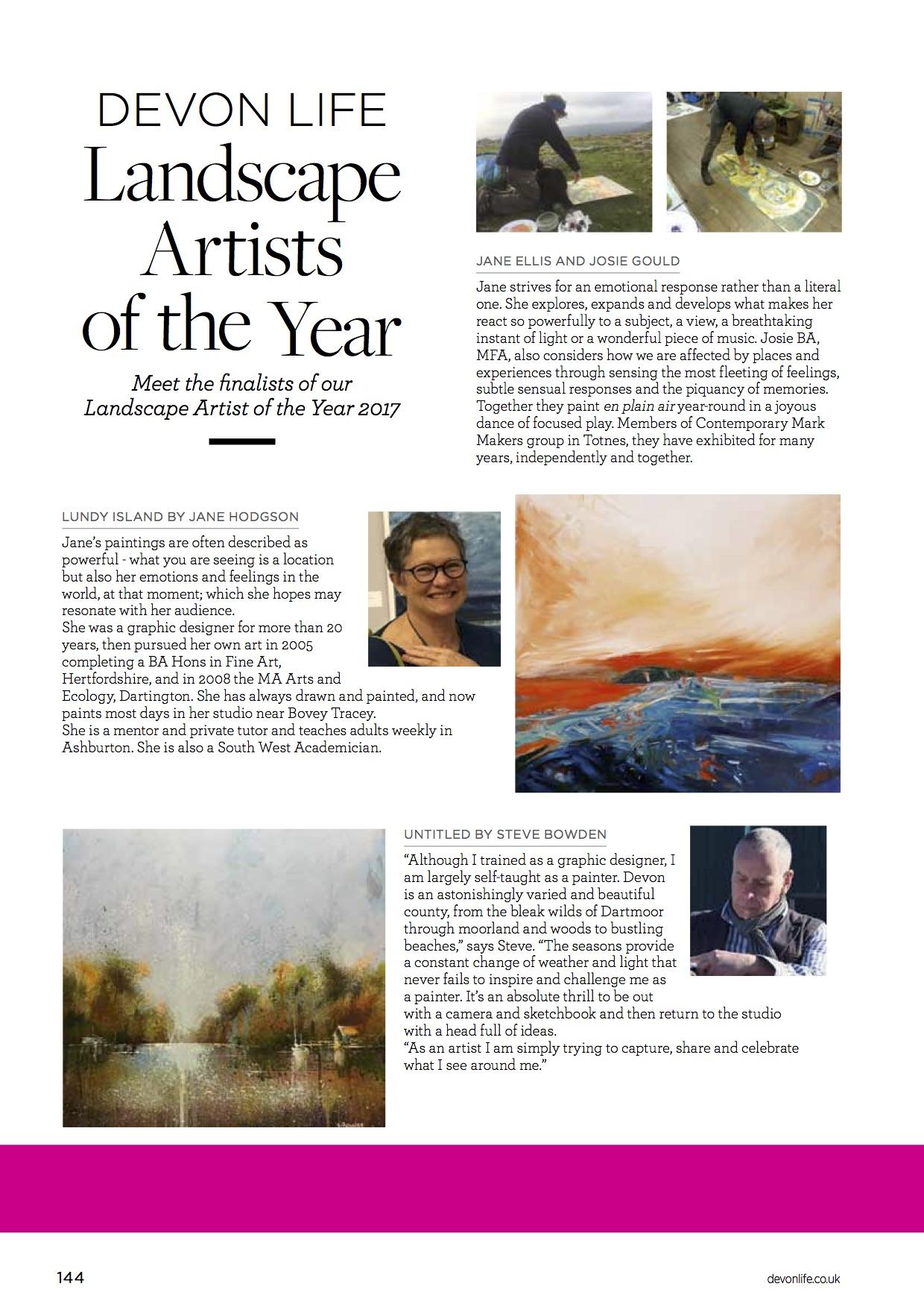 Landscape Artists MARCH