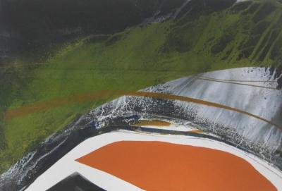 Dartmoor 5. Monoprint on Somerset paper 48 x 37cm