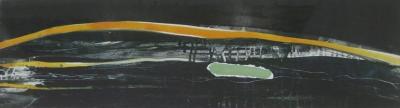 Dartmoor 6. Monoprint on Somerset paper, 70 x 27cm